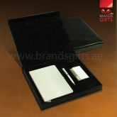 Custom Corporate Gift Set Box Promotional Gifts With Leather Box. www.brandsgifts.ae