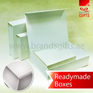 Thick and Durable White Leather PVC Boxes Supplier for all occasions www.brandsgifts.ae