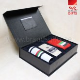 UAE National Day Gift Set, Custom Corporate gifts, National Day Giveaways , Promotional Gift Items with leather box, www.brandsgifts.ae