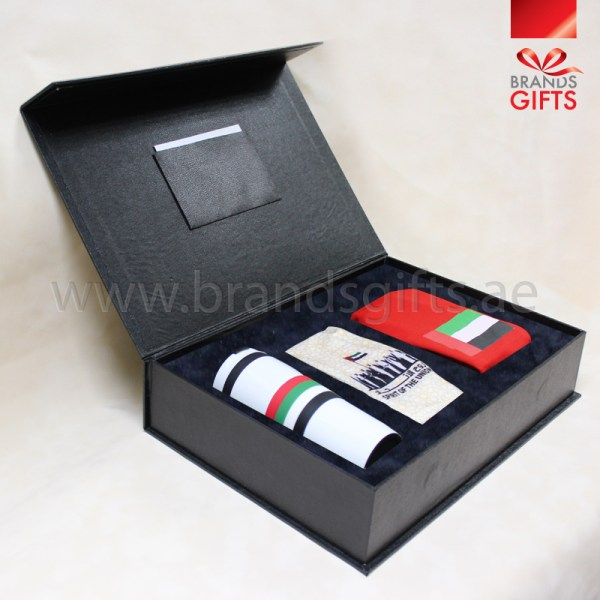 UAE National Day Gift Set Custom Corporate gifts National Day Giveaways Promotional Gift Items with leather box www