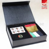 UAE National Day Gifts, Custom Corporate Gift Set, National Day Giveaways , Promotional Gift Items with Leather Box, www.brandsgifts.ae