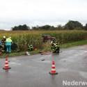 Zwaar ongeval Frenkenbaan-Houbenbaan met twee personenauto's