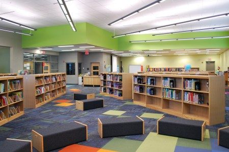 lincoln elementary school interior media center