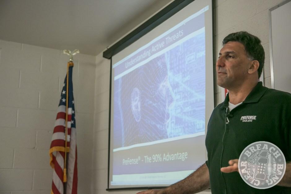 Steve Tarani explaining the concepts of Prefense