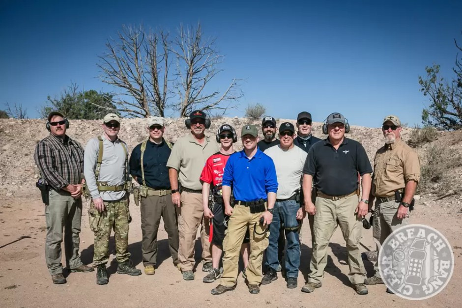 The Blue Team ends our pistol training