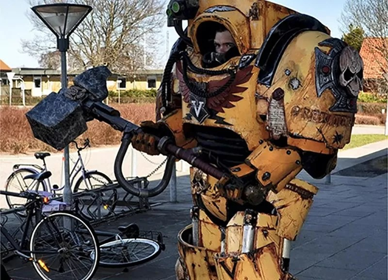 You laugh -- but if they keep this up we'll all wind up looking like the Adeptus Astartes.