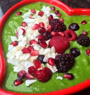 Coconutty Greens Smoothie Bowl By Amanda Guyran