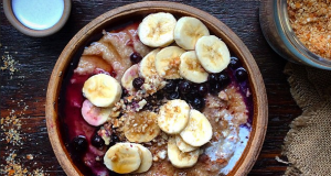 Overnight oats with banana coins