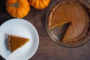 gluten free sorghum pumpkin pie