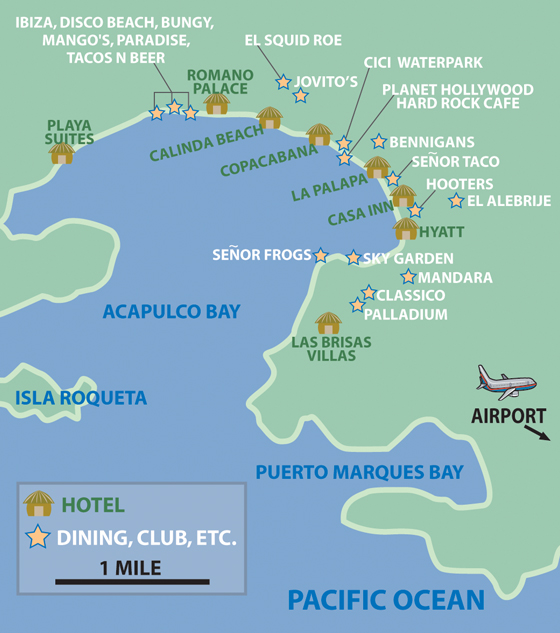 map of acapulco hotels