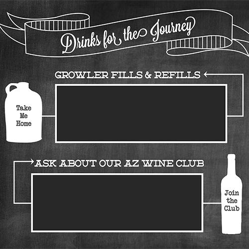Grand Canyon Winery Menu Board Design