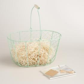 Mint Wire Basket
