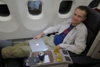 In der Business Class von Turkish Airlines