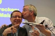 Ryanair CEO Michael O'Leary zu Besuch am Flughafen Münster Osnabrück (FMO).