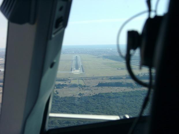Bei der Landung in Rom saß ich im Cockpit.