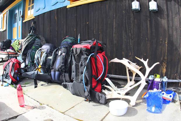 Wir brachten reichlich Gepäck mit.