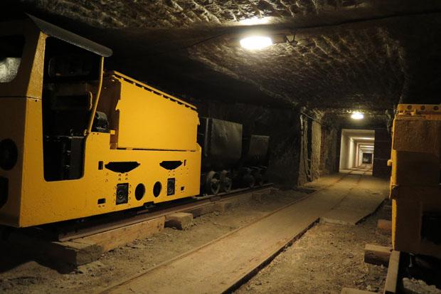 Auch eine Grubenbahn ist zu sehen