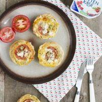 Hartige taart met tomaat en Hüttenkäse