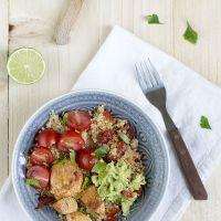Burritobowl met chipotlekip en limoen