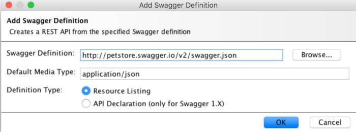 add swagger definition