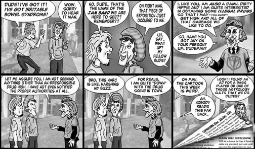 Mountain Xpress cartoon by Brent Brown week of Feb. 27, 2008