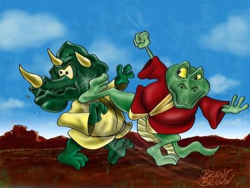 Kung Fu Dinos by Brent Brown
