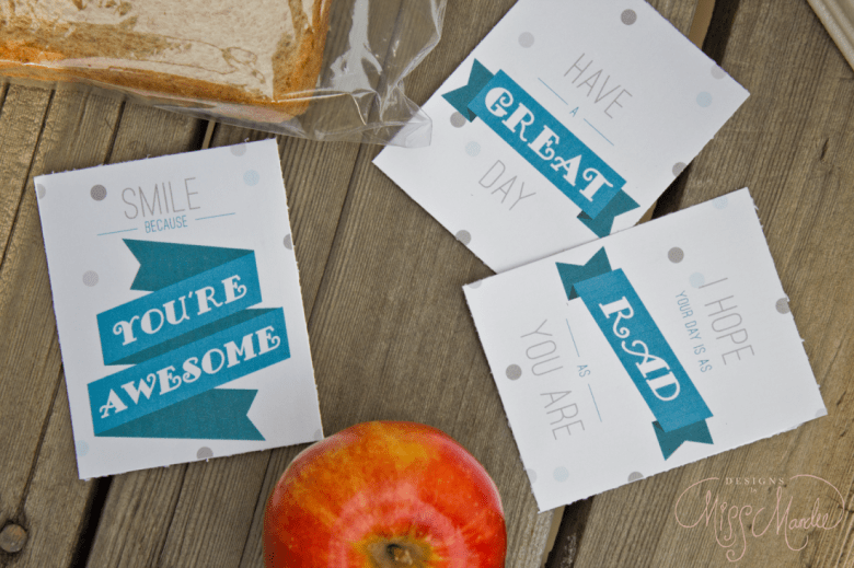 Lunch Note Printables