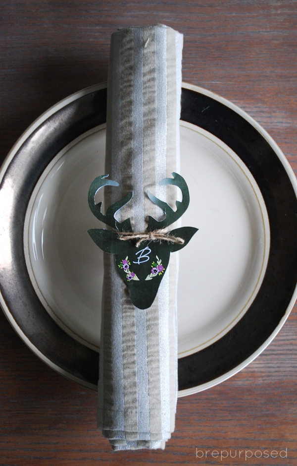 Free Deer Head Place Setting Printable