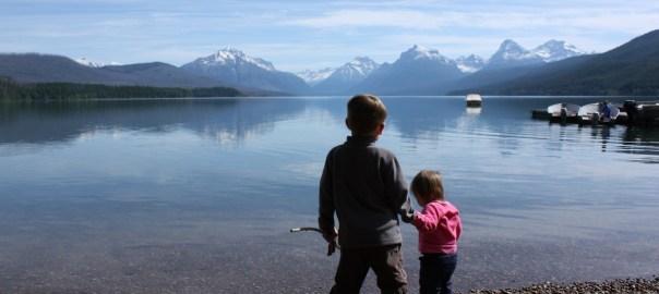Ethan and Autumn at Lake McDonald