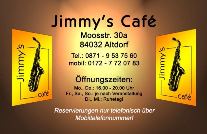 Adresse und Telefonnummer von Jimmys Café in Altdorf