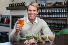 Shane Warne at the Moa Brewery_300