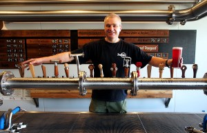 Richard Watkin's with a full font of taps and a new beer.