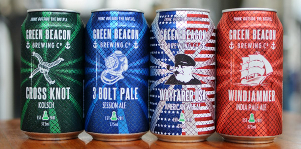 Green Beacon cans