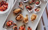 Oysters three ways:  Image from Mercurio's Menu by Paul Mercurio, published by Murdoch Books