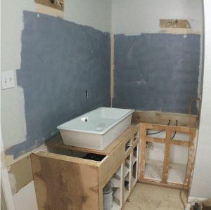 Master Bath Progress