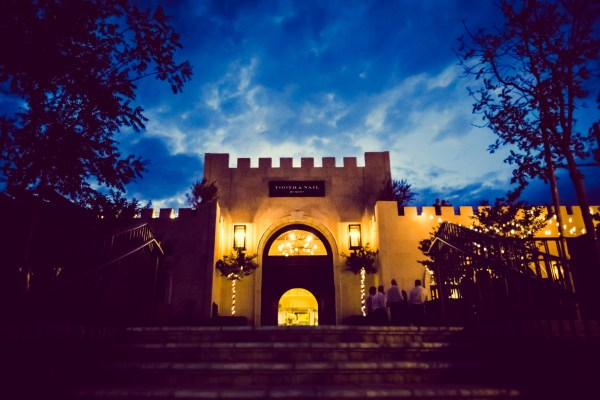 tooth and nail winery at night | photograph by Brian J. Matis