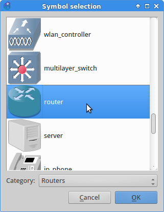 Choose the router symbol