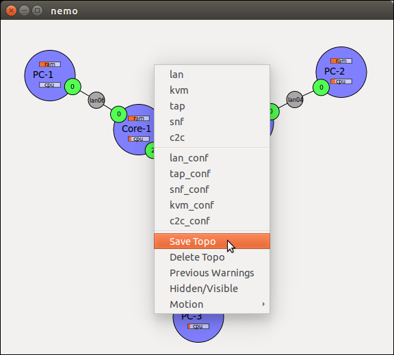 Save the topology from the Cloonix GUI