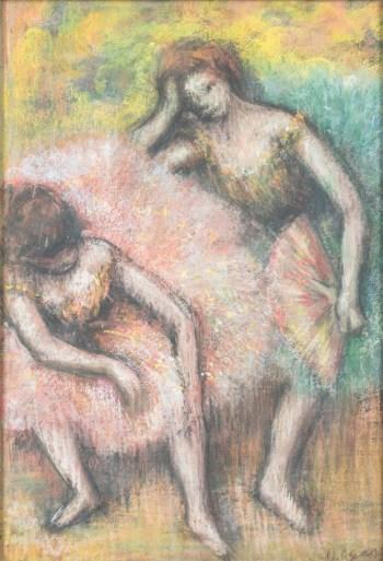 Edgar Degas Due ballerine 1898 pastello su carta cm 50 x35