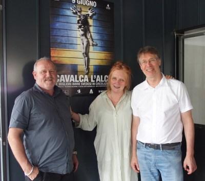Da sinistra a destra: Claudio Mapelli, Pia Wedar e Anders Fritjofsson