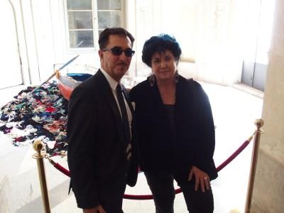 Marisa Laurito con il Direttore del Consorzio Villa Reale Piero Addis