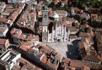 Monza veduta dall'alto con Duomo