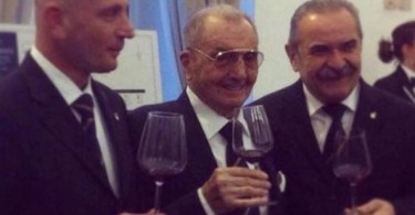 Jean Valenti, al centro, con Fabio Mondini e Fiorenzo Detti (a destra)