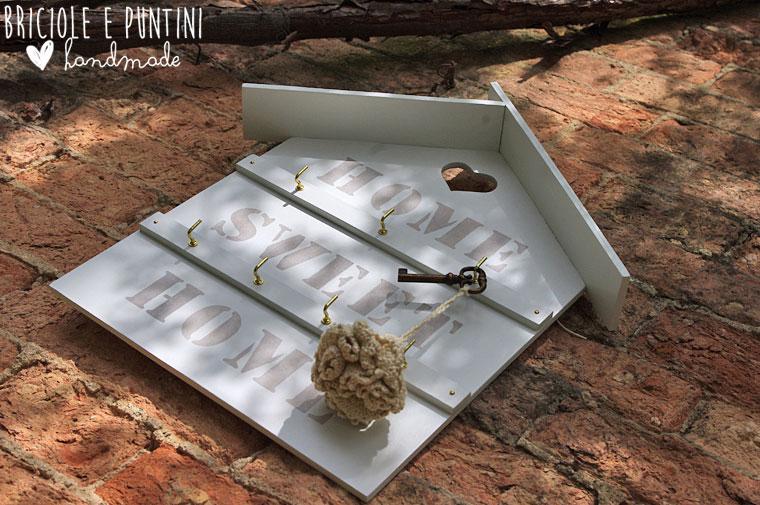 Home sweet home   casette appendichiavi shabby chic • briciole e ...