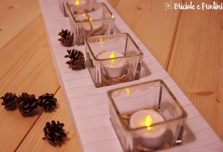 Tutorial opitec centrotavola portacandele country chic for Centrotavola matrimonio candele