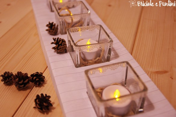 porta candele fai da te matrimonio shabby chic