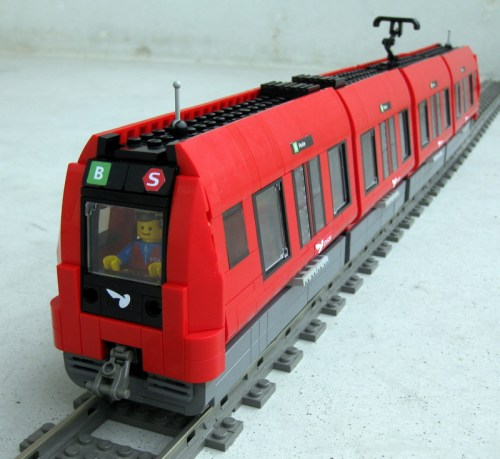 LEGO train tram