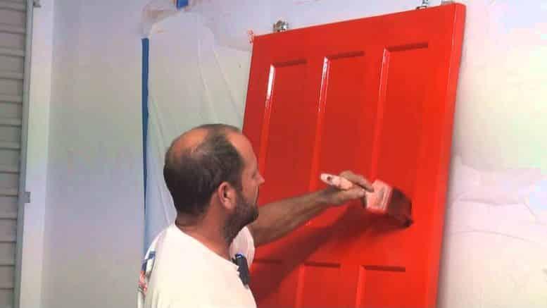 peindre une porte d int rieure bricolage facile. Black Bedroom Furniture Sets. Home Design Ideas