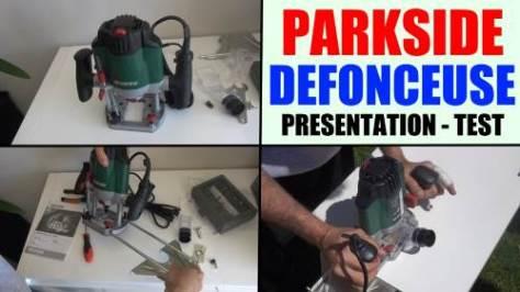 défonceuse parkside pof 1200 a1 présentation et test