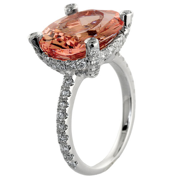 coral engagement ring